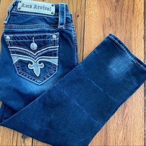 Rock Revival Sukara Stretch Easy Crop Capri Jeans